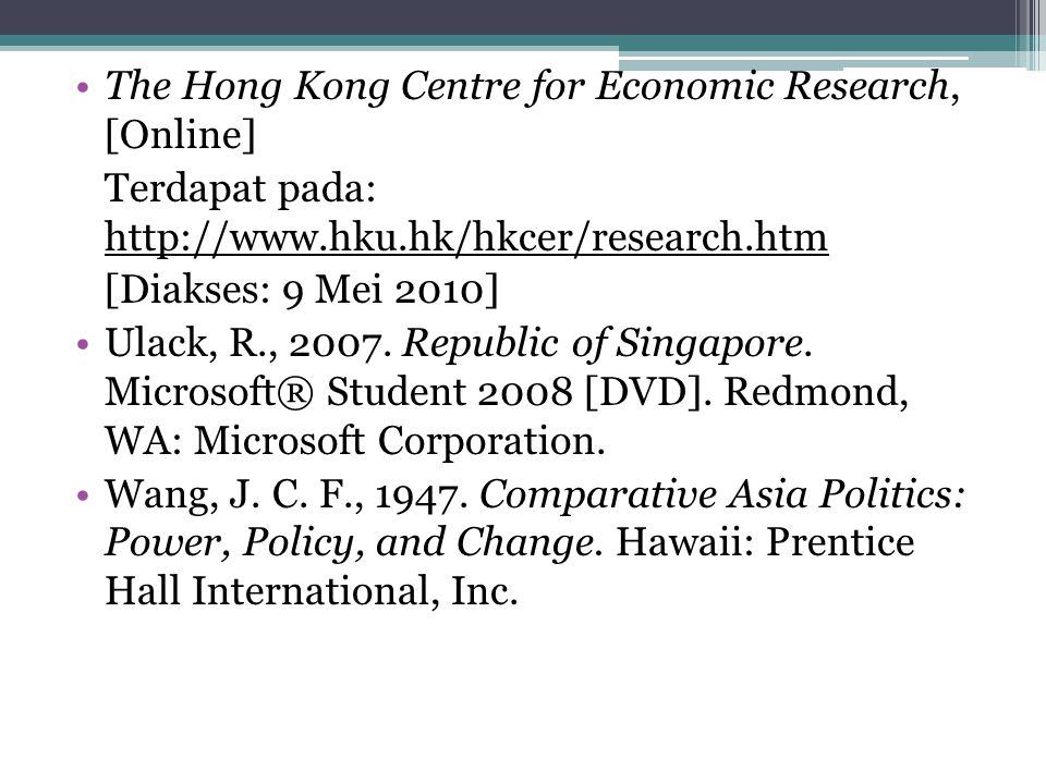 The Hong Kong Centre for Economic Research, [Online]